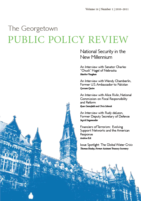 Georgetown Public Policy Review Volume 16-1