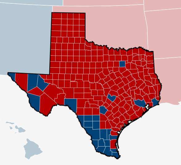 texas political map red blue Georgetown Public Policy Review Why Demographics Aren T Enough