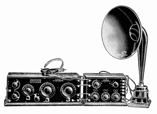 Early_1920s_radio_and_horn_speaker