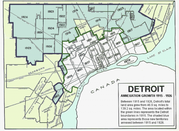 Georgetown Public Policy Review  Detroit Is Not Enormous