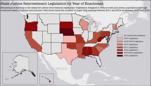 5 - state justice reinvestment legislation by year of enactment - UPDATED 10-14